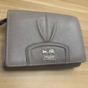 Coach Pleated Bifold Wallet